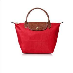 NWT Longchamp Small Le Pilage Red Handbag